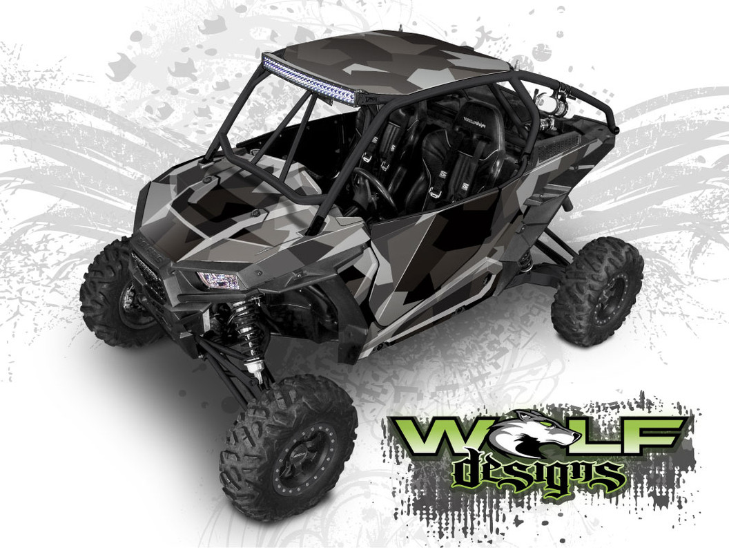 Urban Jagged Camo - Polaris RZR XP 1000/Turbo Graphics Wrap Kit