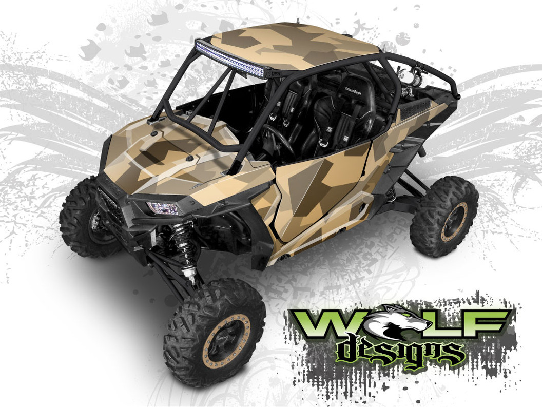 Polaris General 4 Seater >> Jagged Urban Camo Polaris RZR XP 1000 & Turbo - RZR Graphics Wrap Kit