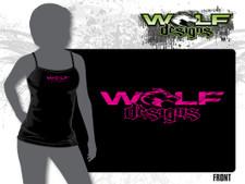 Wolf Designs - Womens Spaghetti Strap Tank