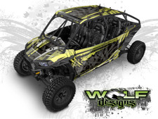 WD4B-011 - Polaris RZR XP4 1K/Turbo UTV Wrap Kit (EXTREME PLUS KIT SHOWN)