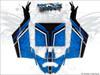 Blue CanAm Maverick X3 wrap kit