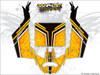 Yellow CanAm Maverick X3 wrap kit