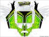 Green CanAm Maverick X3 wrap kit