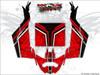 Red CanAm Maverick X3 wrap kit