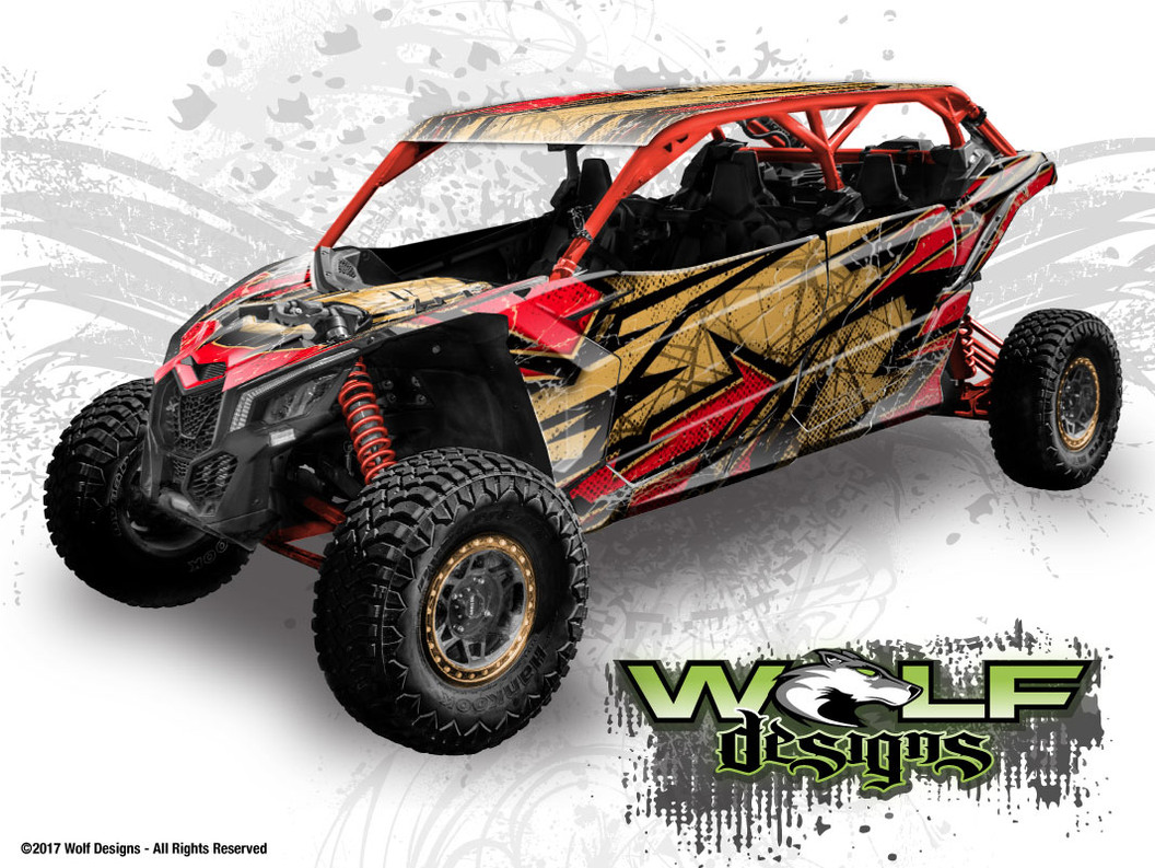 The best wrap kit for Canam Maverick X3 Max