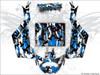Blue Camo Can Am Maverick X3 wrap kit