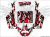 Red Camo Can Am Maverick X3 wrap kit