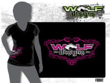 2018 Womens V-neck T-Shirt (WD-AP009)