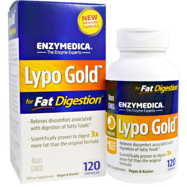 Lypo Gold- 120 Caps. For Fat Digestion. By Enzymedica.