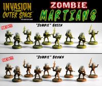 LNOE/IFOS Brown & Green Zombie Martians Set