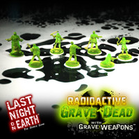 LNOE Radioactive Zombies With Grave Weapons Miniature Set