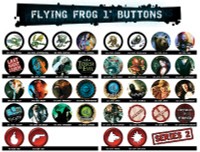 "Flying Frog Productions 1"" Buttons Set of 8"