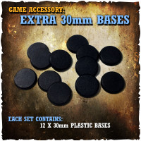Shadows of Brimstone: 12x 30mm Extra Bases