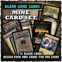 Shadows of Brimstone: Blank Cards - Mine Set