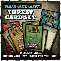 Shadows of Brimstone: Blank Cards - Threat Card Set
