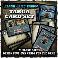 Shadows of Brimstone: Blank Cards - Targa Card Set