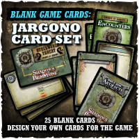 Shadows of Brimstone: Blank Cards - Jargono Card Set