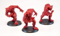 Shadows of Brimstone: 3 Night Terror Miniatures in Red