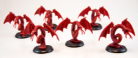 Shadows of Brimstone: 6 Hellbat Miniatures in Red