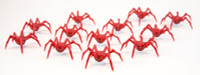 Shadows of Brimstone: 12 Void Spider Miniatures in Red