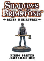 Shadows of Brimstone: Resin Piano Player (Male Saloon Girl) LIMITED PREVIEW