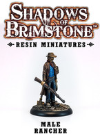 Shadows of Brimstone: Resin Male Rancher LIMITED PREVIEW