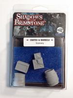 Shadows of Brimstone: Crates and Barrels Terrain Set