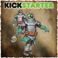 Shadows of Brimstone: Original Kickstarter Backers ONLY Trederran Z-4 Grenadiers/Crates&Barrels Terrain Upgrade