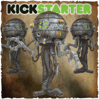 Shadows of Brimstone: Original Kickstarter Backers ONLY Derelict Ship B.E.A.C.O.N. Drones Upgrade