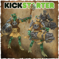 Shadows of Brimstone: Original Kickstarter Backers ONLY Wasteland Heavies/ Wasteland Warlord Upgrade