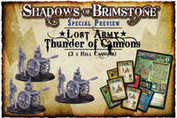 Shadows of Brimstone: Lost Army Thunder of Cannons! (Hell Cannon  **3 Pack!**) LIMITED PREVIEW