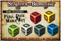 Shadows of Brimstone: Peril Dice Mega Set (One of each color)