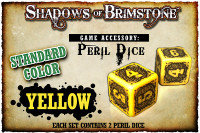 Shadows of Brimstone: Yellow Peril Dice (Set of 2)