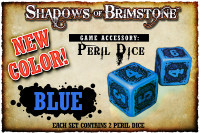 Shadows of Brimstone: Blue Peril Dice (Set of 2)