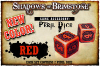 Shadows of Brimstone: Red Peril Dice (Set of 2)