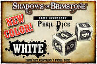 Shadows of Brimstone: White Peril Dice (Set of 2)