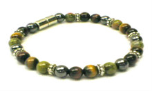 6mm Katie Anklet - with Napkin Ring between every Third bead