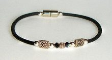 Single Corded Jersey Girl Celtic with Black Crystal & Silver