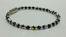 Jet Black Swarovski Crystal Beaded Bracelet