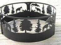 Cowboy Horse Lazy Days Campfire Fire Pit Ring CNC Plasma Cut from heavy gauge steel.