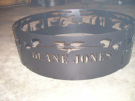 Custom Personalized Campfire Fire Pit Ring CNC Plasma Cut from heavy gauge steel