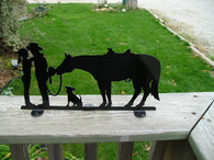 Cowboy Cowgirl Horse Romance Mailbox Topper CNC Plasma Cut from 16ga steel.