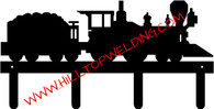 Train Locomotive Coal Car Tack Hanger Rack