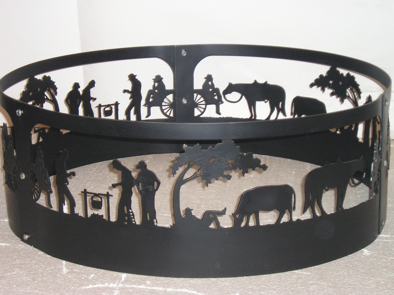 Western Horse Cookout Campfire, Fire Pit Ring CNC Plasma ...