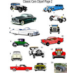 Classic Cars Clipart 2