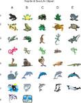 Reptile/Sea life Clipart