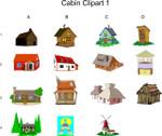 cabin clipart 1