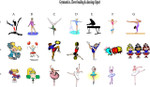 Gymnastics, Cheerleading and Dancing Clipart