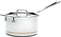All-Clad Copper Core Irregular 4 qt. Sauce Pan with Lid and Loop