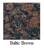 "Baltic Brown 12""x12"" Tile - One Side Bullnosed"